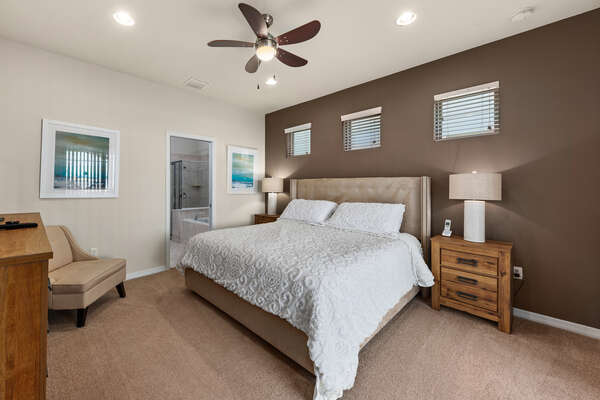 Make yourself feel at home in this beautiful downstairs master bedroom