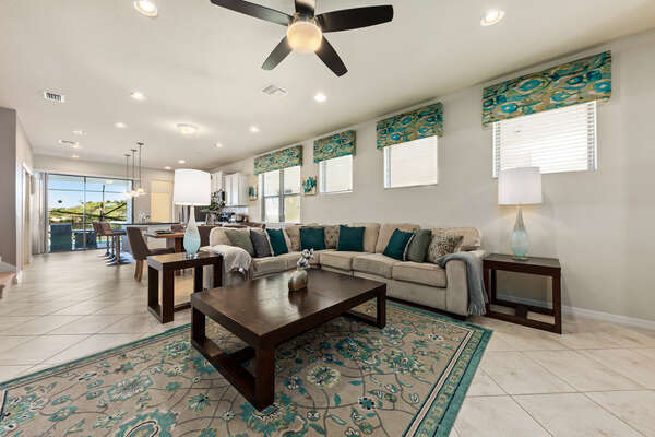 This home`s open layout allows for easy movement throughout