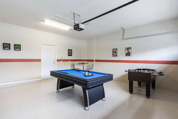 Challenge each other to a friendly game of pool or Foosball