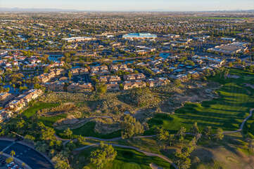 Superstition Lakes, a gated community, adjoins the beautiful Superstition Springs Golf Course.