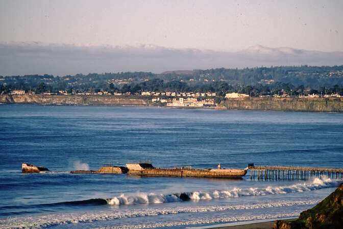 The Cement Ship - a historic landmark at Seacliff State Beach