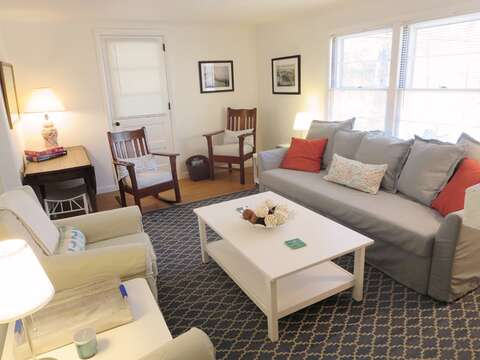 Lounge in the living room and share your stay with friends on social media! - 41 Whip O Will Harwich Cape Cod - New England Vacation Rentals