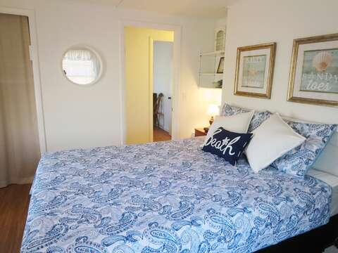 View from master bedroom across to bedroom #2 with twins- 41 Whip O Will Harwich Cape Cod - New England Vacation Rentals