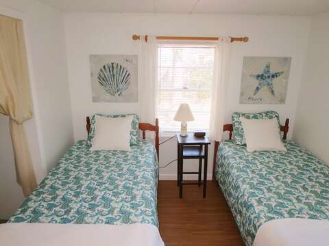 Bedroom # 2 with 2 twin beds- 41 Whip O Will Harwich Cape Cod - New England Vacation Rentals