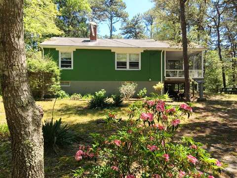 Nestled in the pines of Cape Cod! Whip-o-will Woods welcomes you! Relax on the screened in porch - 41 Whip O Will Harwich Cape Cod - New England Vacation Rentals