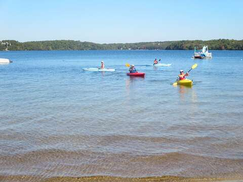 Kayak on the fresh water of Long Pond just 2.2 miles from the cottage - Harwich Cape Cod - New England Vacation Rentals