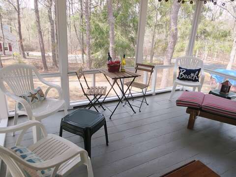 Screened in porch-41 Whip O Will  Harwich Cape Cod - New England Vacation Rentals