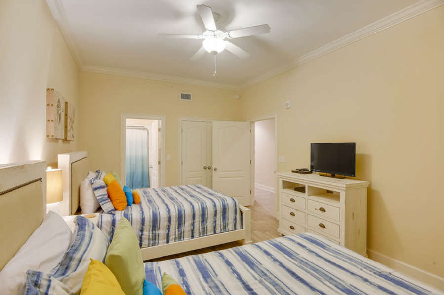 Guest Room has 2 Queen Size Beds with A Private Bath