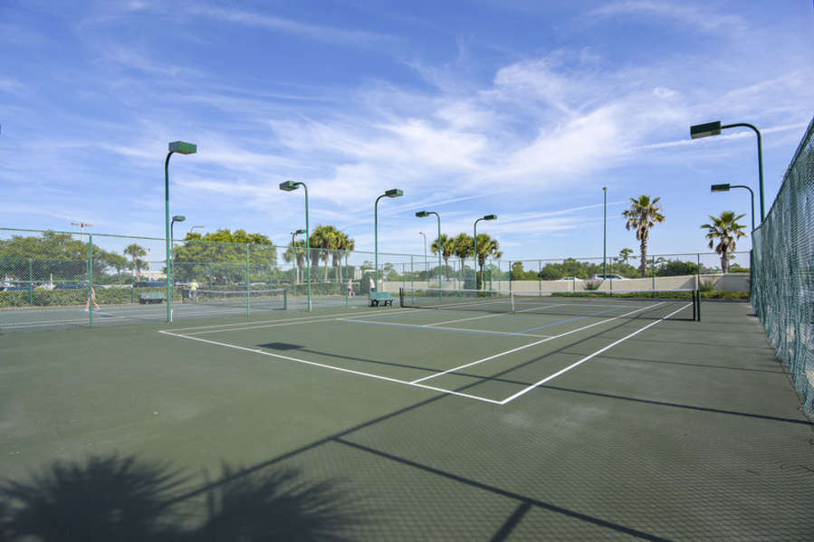 Lighted Tennis Courts