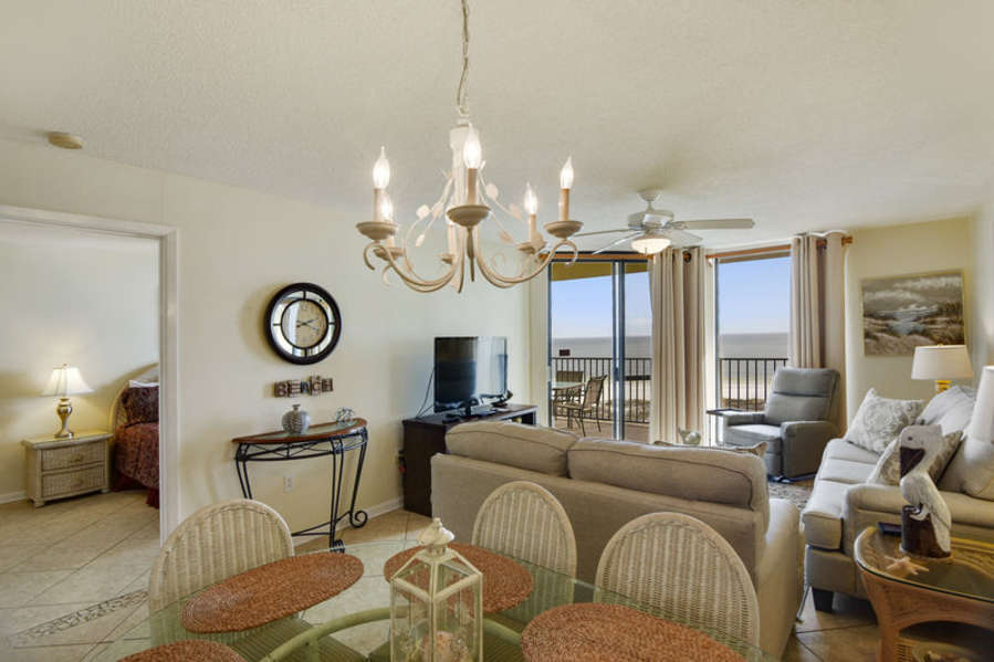 Spacious Living and Dining Areas with Access to the Balcony and Fantastic Views