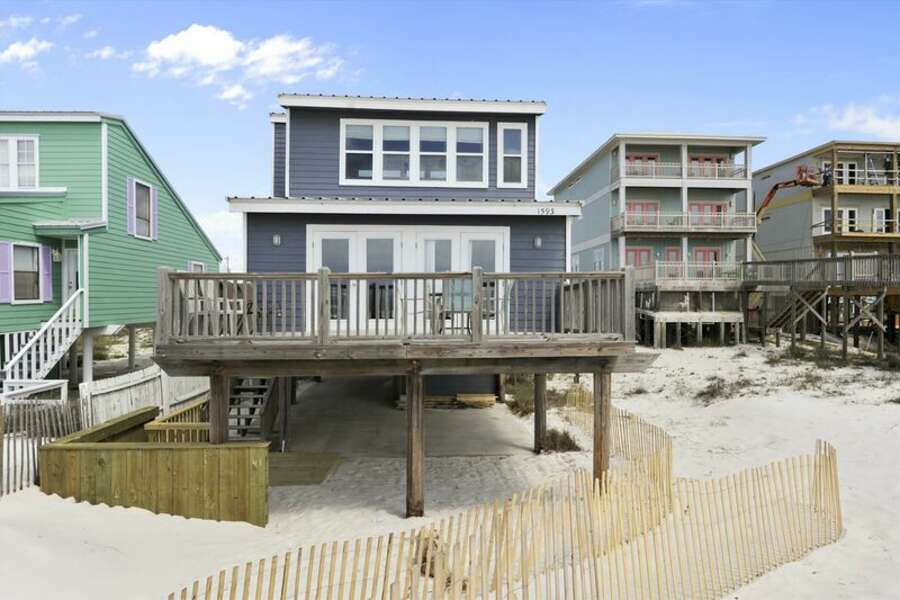 Beach View of Back Deck