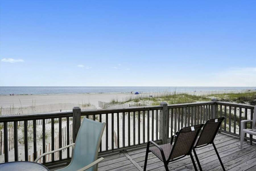 Private Deck overlooking Gulf