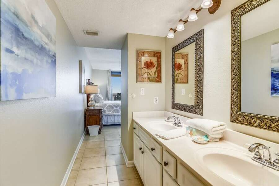 Private Master Bath with Double Sink Vanity