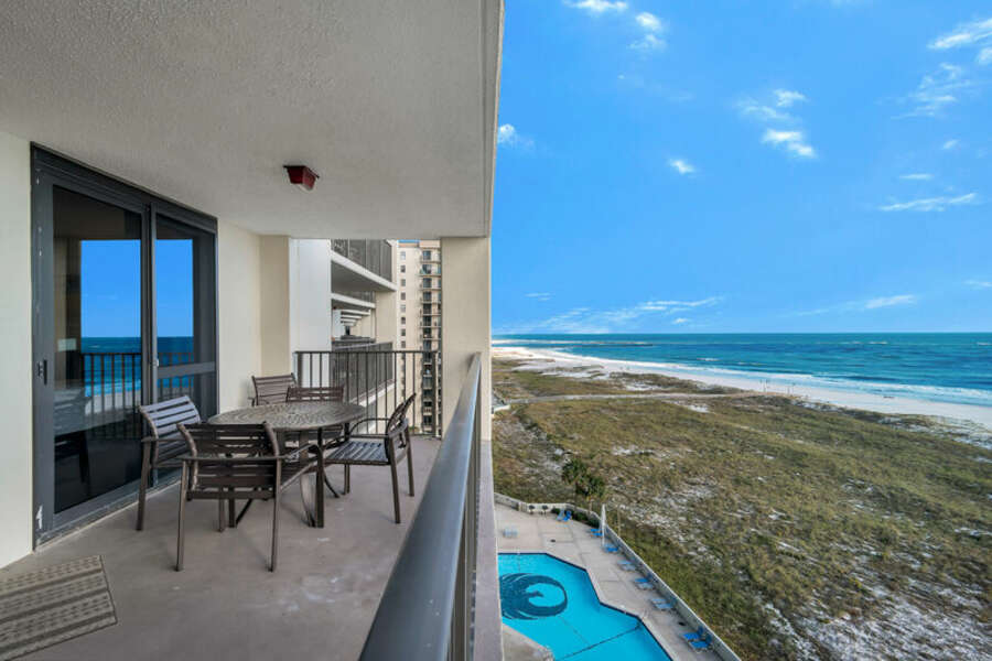 Private Balcony with a View of the Gulf of Mexico