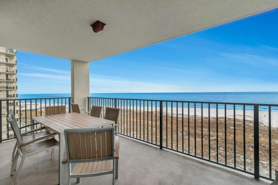 Private Balcony overlooking the Beautiful Gulf of Mexico.