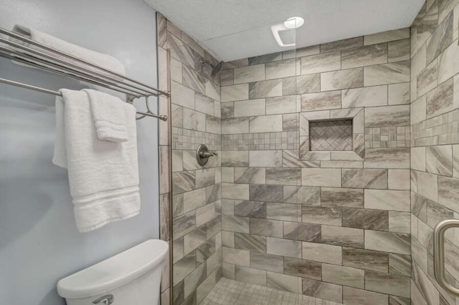 Private Master Bath with Spacious Stand Alone Shower