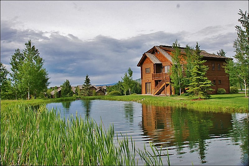 A beautiful new home with a stocked trout pond right out back