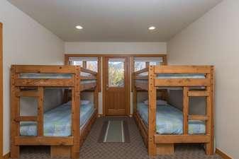 Bedroom 5 has 4 Twin beds