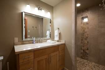 Beautiful bathroom adjacent to bedrooms 4 and 5