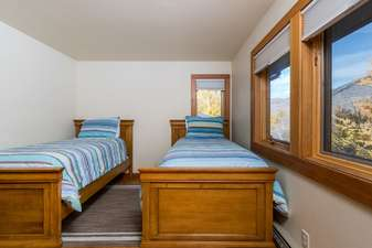 Bedroom 7 has 2 Twin beds and mountain views