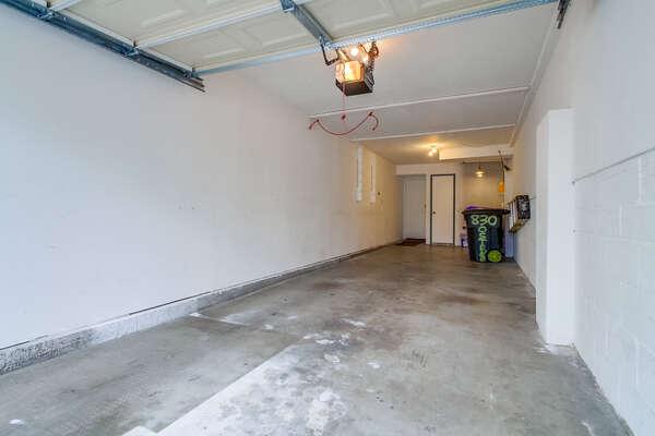 Tandem garage: 6'10H x 8'10W x 30' D