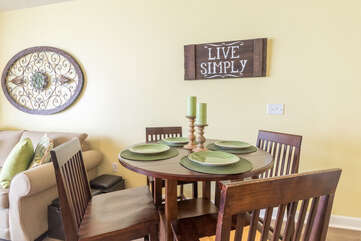 dinner table in livingroom