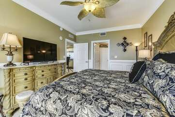 Very elegant bedroom with king bed