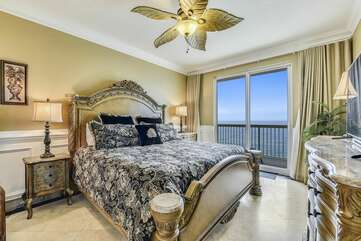 Better view of the bedroom where you can walk right on to the balcony