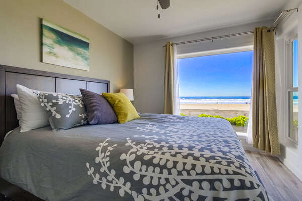 Master Bedroom with Queen Bed and Ocean Views