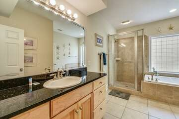 Master bathroom with lots of storage