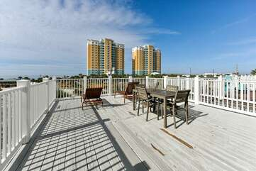 3rd floor deck with view of the Gulf of Mexico