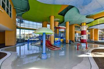 Splash pad! Perfect for younger kids.