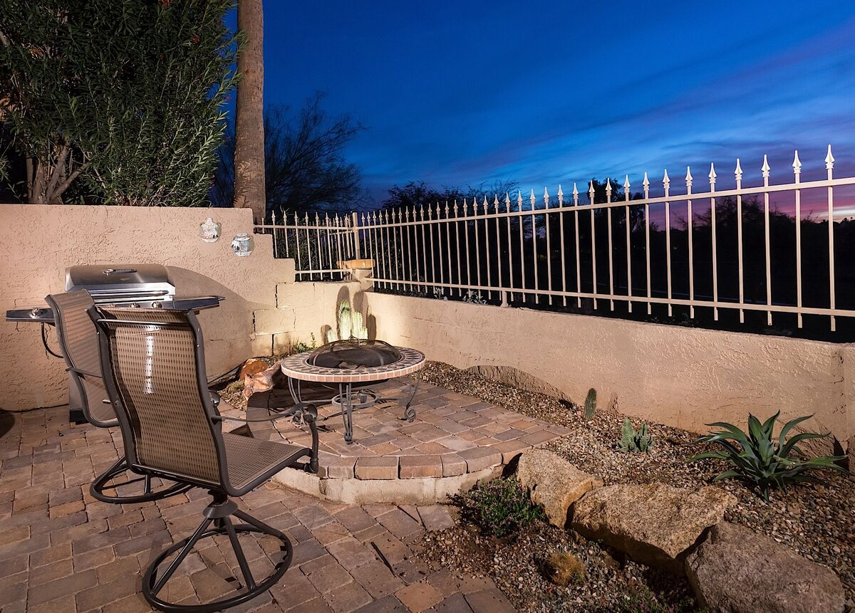Firepit Area on Patio with Views