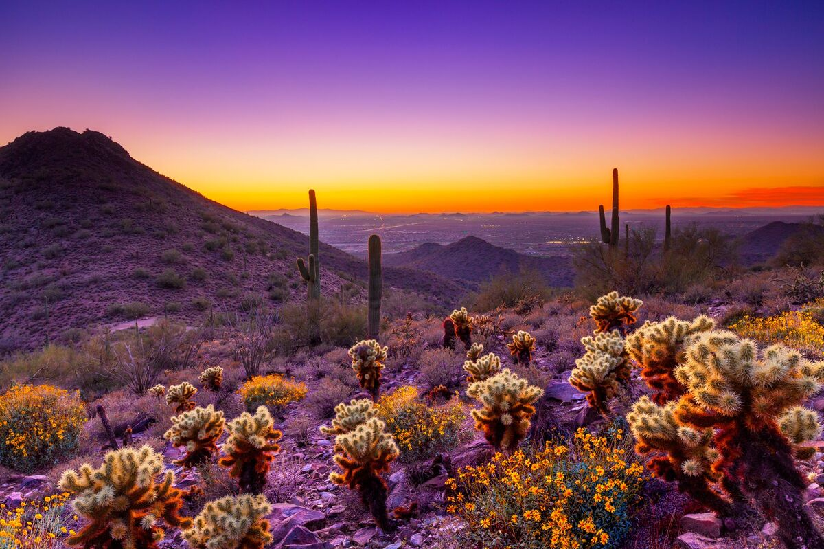 Explore the many places to hike around town. They don't make sunsets like these everywhere.