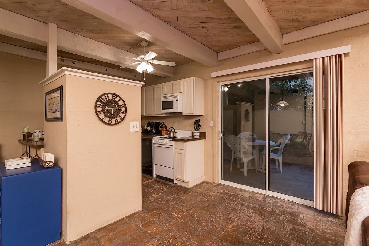 Access the patio from right off the kitchen
