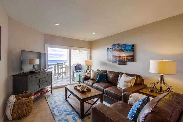 Living Area with Beach Views