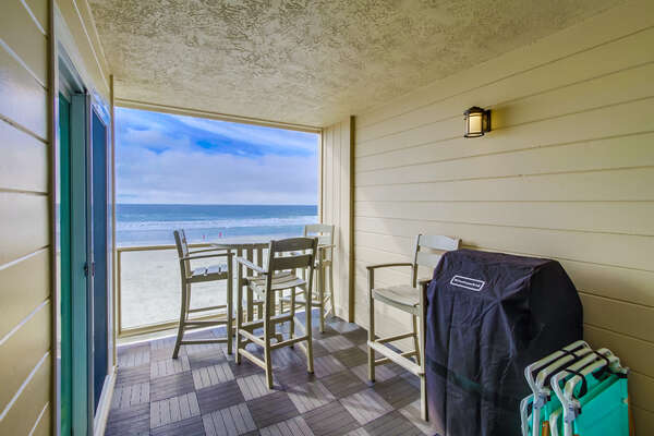 Second Floor Patio with Ocean Views and BBQ