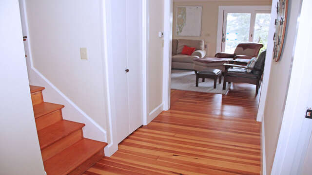 Stairs to second floor off dining room 160 Long Pond Drive Harwich Cape Cod - New England Vacation Rentals