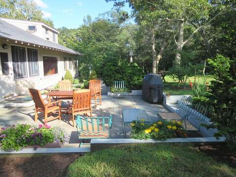 Table- chairs- gas grill for your use on patio-160 Long Pond Drive Harwich Cape Cod - New England Vacation Rentals