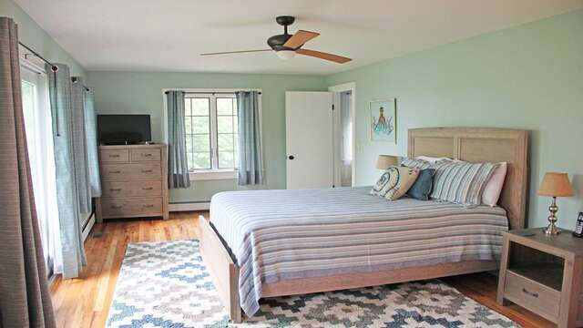 1st floor master bedroom 1 with Queen bed and Ensuite bathroom 160 Long Pond Drive Harwich Cape Cod - New England Vacation Rentals