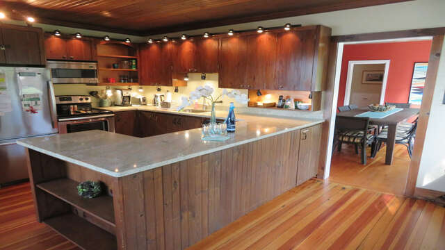Fully Equipped Kitchen open to 1st dining area and easy access to the dining room 160 Long Pond Drive Harwich Cape Cod - New England Vacation Rentals
