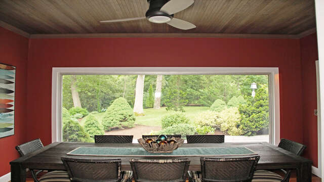 Dine with a view! 160 Long Pond Drive Harwich Cape Cod - New England Vacation Rentals
