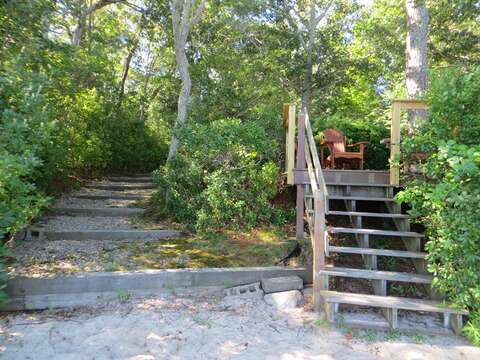 Steps from deck to sandy beach area on Long Pond! 160 Long Pond Drive Harwich Cape Cod - New England Vacation Rentals