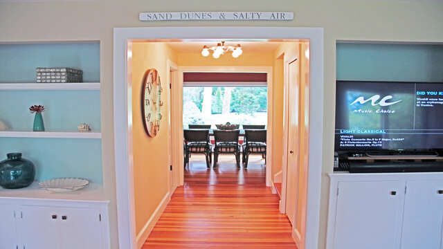 Hallway to half bath and end dining room-160 Long Pond Drive Harwich Cape Cod - New England Vacation Rentals