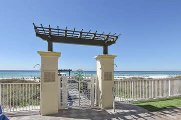 Beach access from pool deck