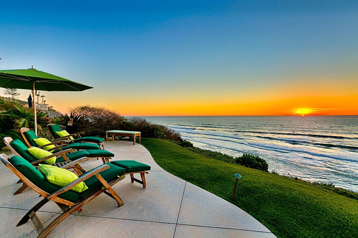 Lounge oceanside and watch the sunset
