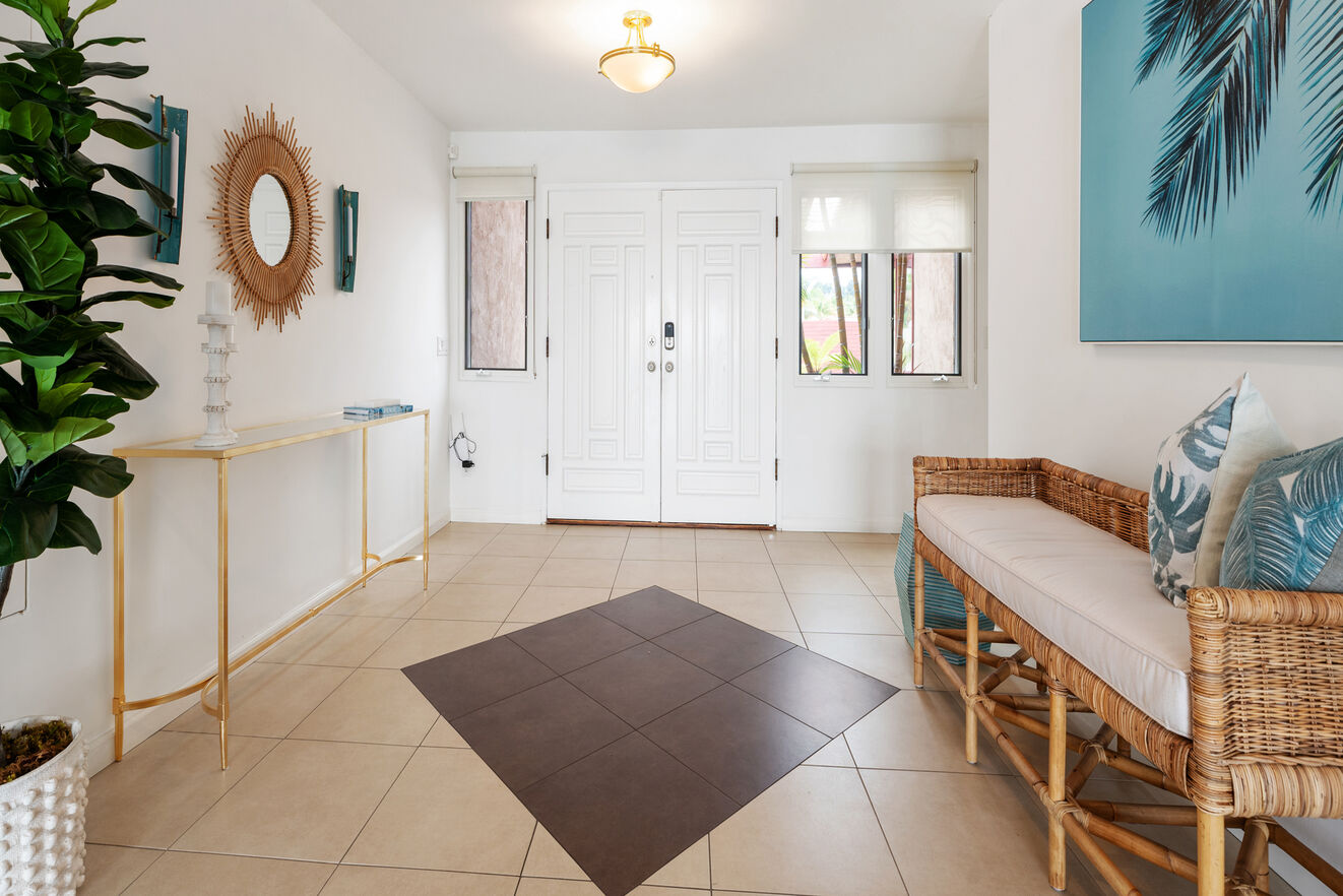 Clean bright entry welcomes you home
