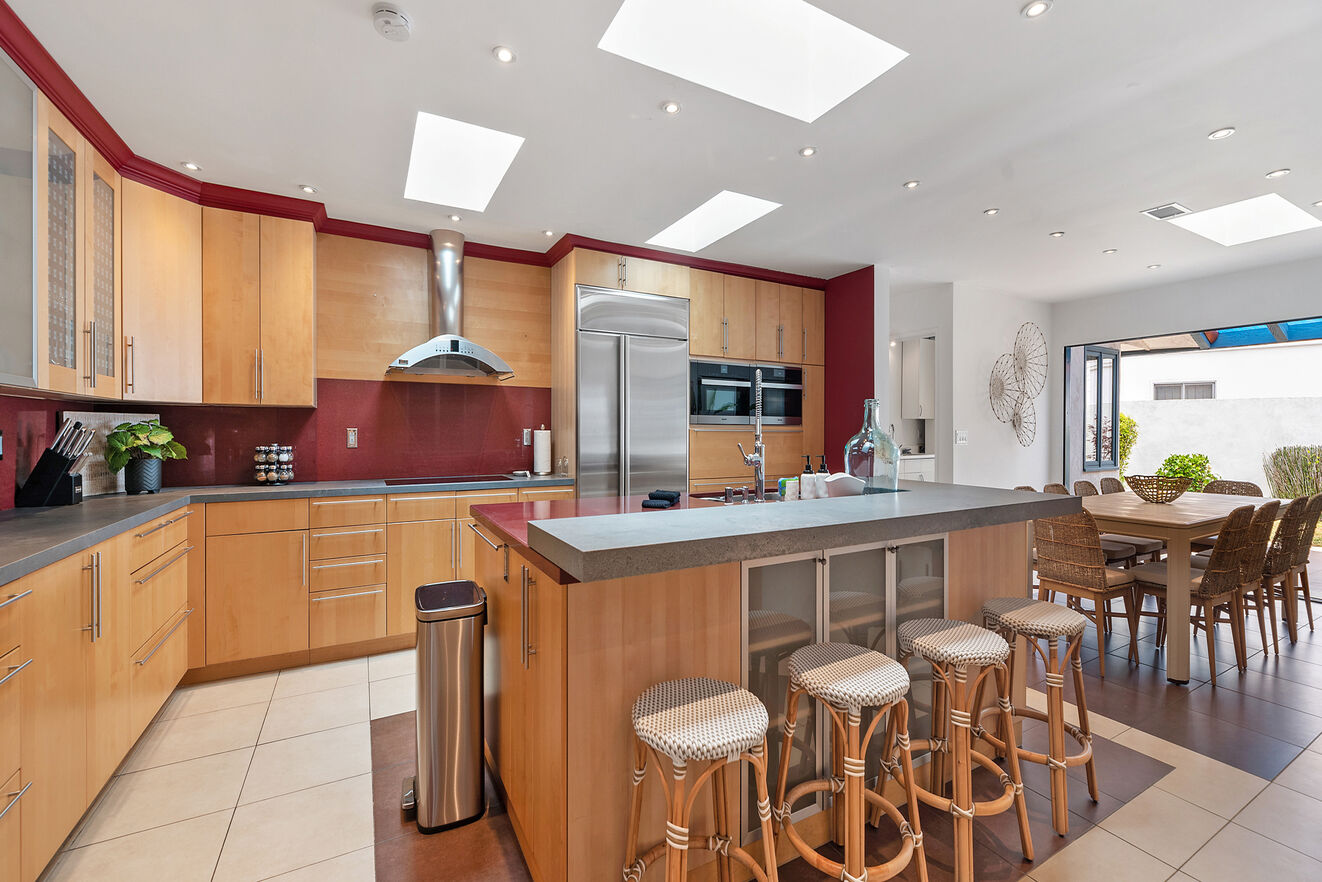 Spacious full gourmet chef's kitchen, a central gathering place in the home.