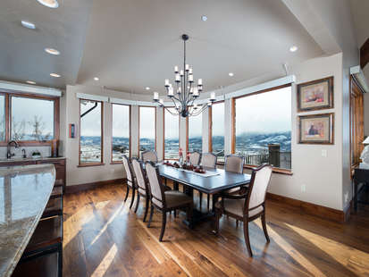 Large Dining Room With Stunning Views