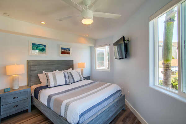Guest Bedroom with a Queen Bed & TV on the Second Floor